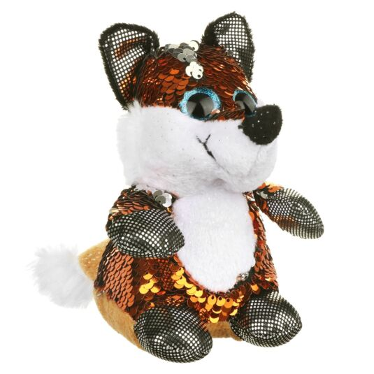 Sequin Glitzies Small Orange and Silver Fox
