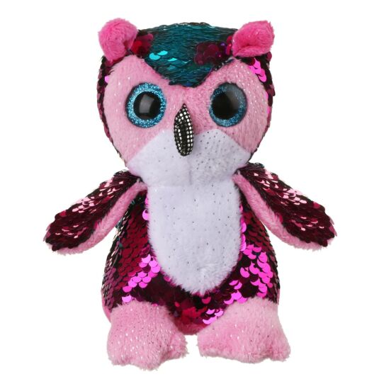 Sequin Glitzies Small Blue and Pink Owl