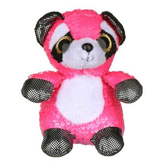 Sequin Glitzies Small Pink Raccoon