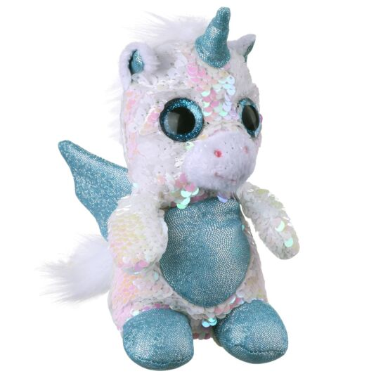 Sequin Glitzies Small White and Pink Unicorn