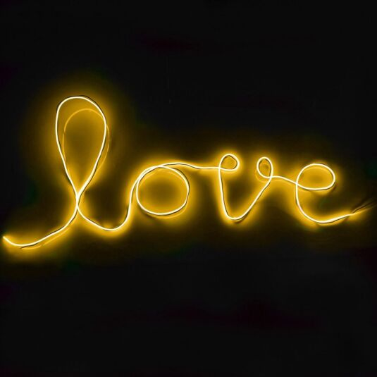 Yellow DIY Neon Sign