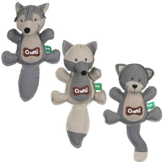 Assorted Canvas Squeaky Dog Toy