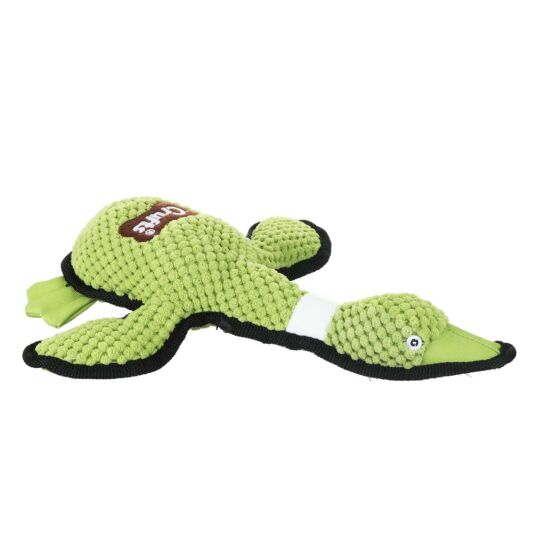 Green Squeaky Plush Duck Dog Toy