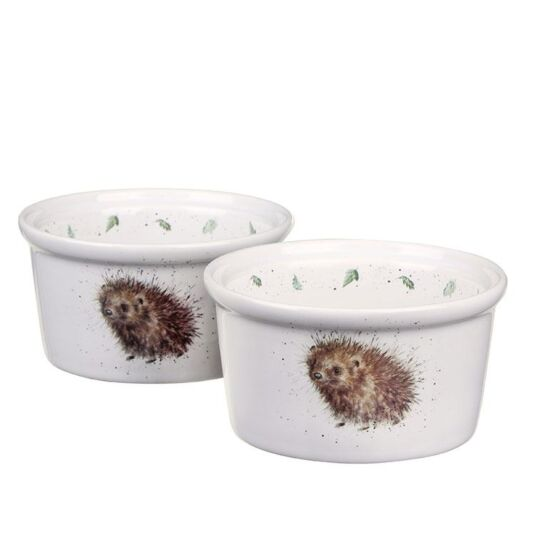Set of Two Hedgehog Ramekins from Royal Worcester