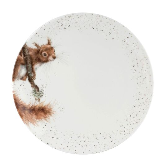 Squirrel 10.5 Inch Coupe Plate from Royal Worcester
