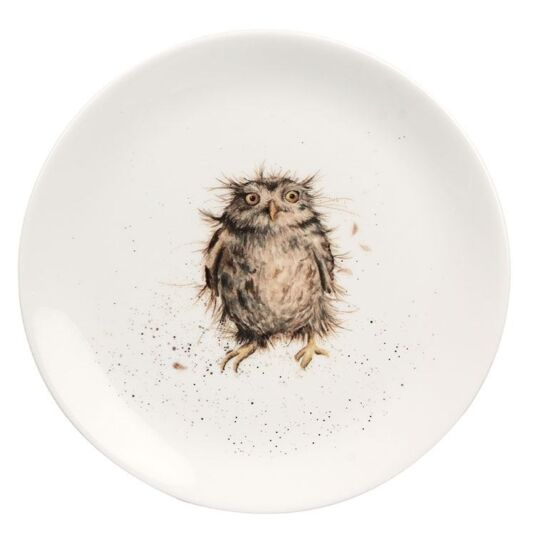 Owl 8 Inch Plate from Royal Worcester