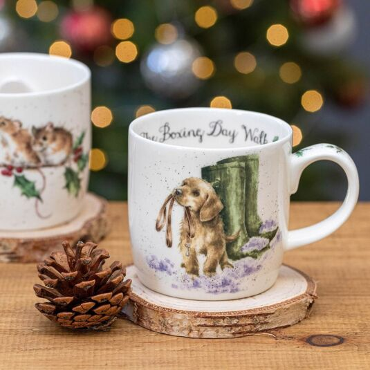 Wrendale Designs Christmas Card Puppy Boxing Day Walk Celebrations & Occasions