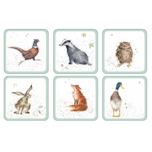Set of 6 Coasters featuring images from 'The Country Set' range