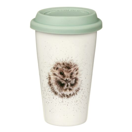 Hedgehog Porcelain Travel Mug from Royal Worcester