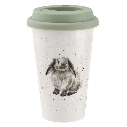 Rabbit Porcelain Travel Mug from Royal Worcester
