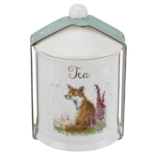 Fox Tea Canister From Royal Worcester
