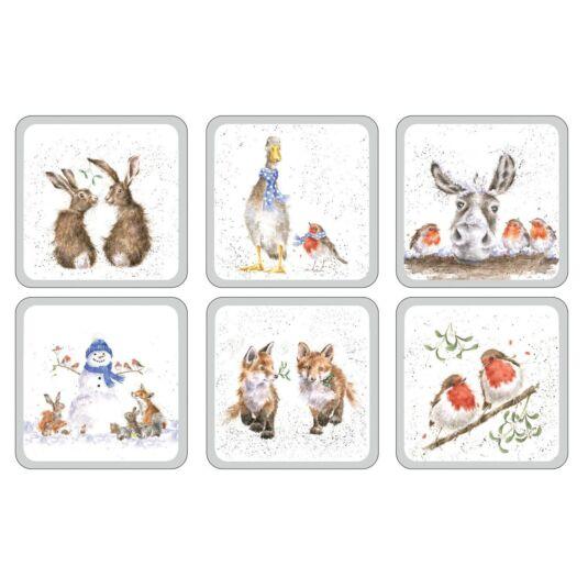 Set of Six Christmas Coasters