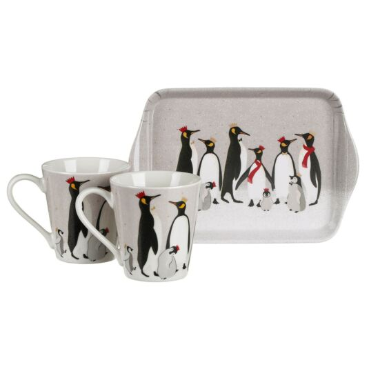 Penguin Mug and Tray Set