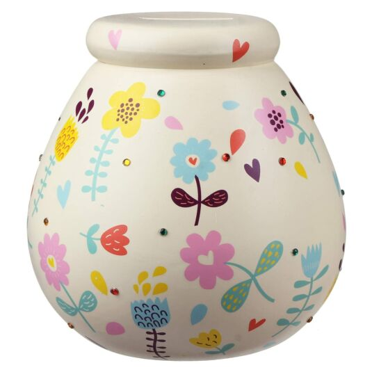 Flowers Money Pot