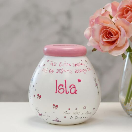 Personalised Ballet Money Pot