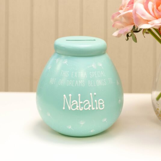 Personalised Dandelion Money Pot