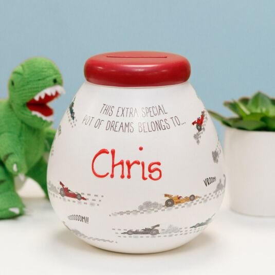Personalised Racing Car Money Pot