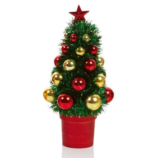Mini Tinsel Christmas Tree