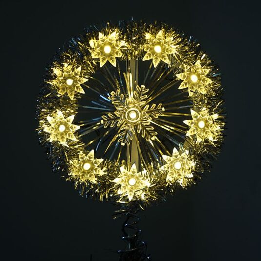 LED Snowflake Tree Topper
