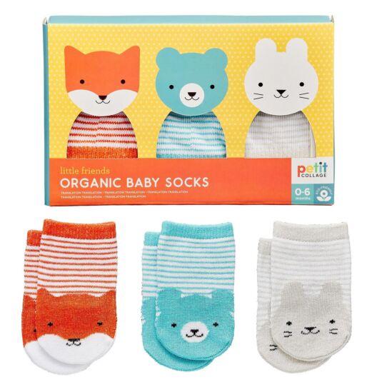 Little Friends Baby Socks Set – 3 Pairs