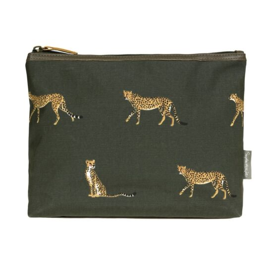 ZSL Cheetah Oilcloth Wash Bag