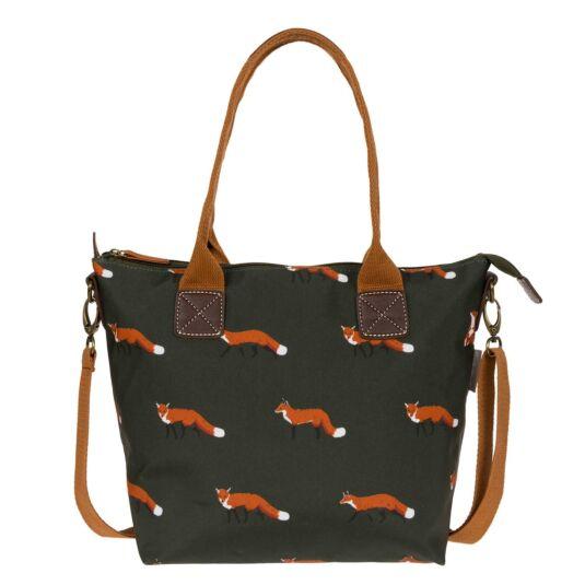 Foxes Mini Oilcloth Oundle Bag