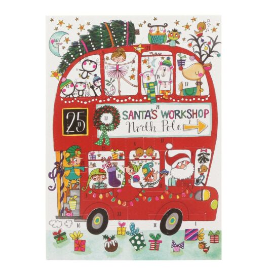 Christmas Bus Advent Card