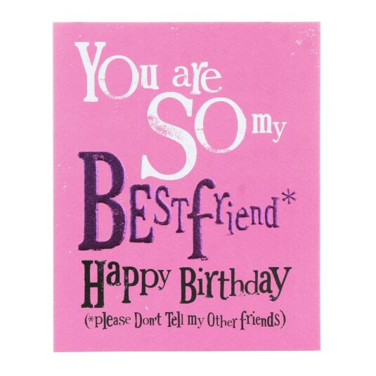So My Best friend Happy Birthday Greetings Card