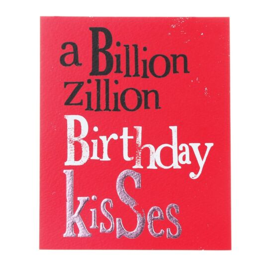 A Billion Zillion Birthday Kisses Greetings Card