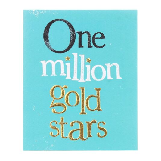 One Million Gold Stars Greetings Card
