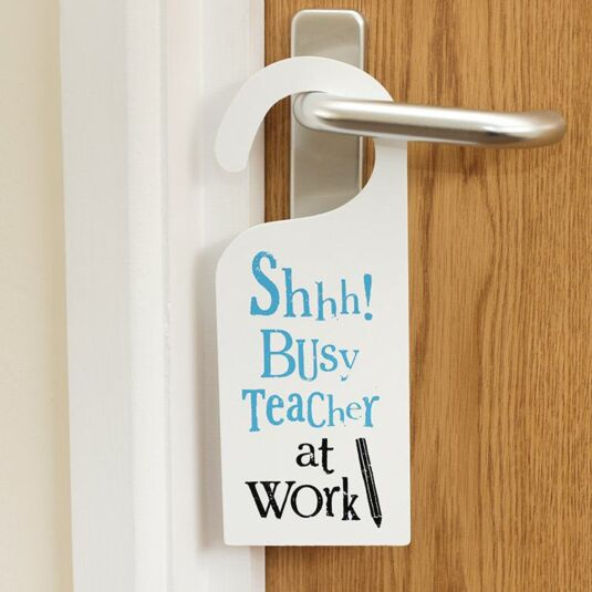 SHHH Busy Teacher at Work Sign