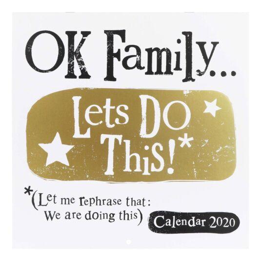 Ok Family… 2020 Family Calendar