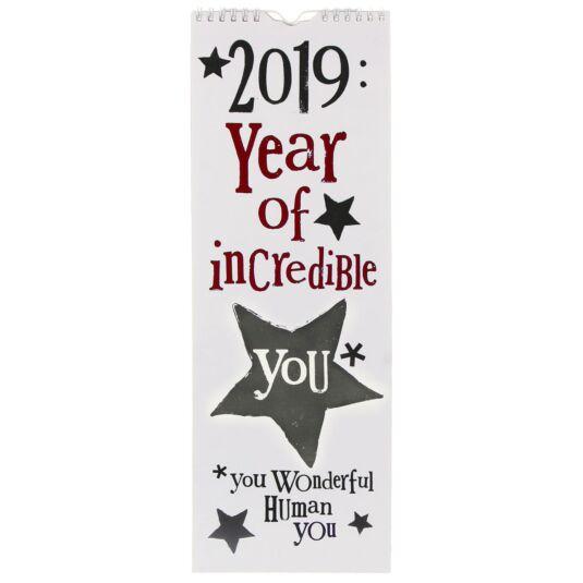 Year Of Incredible You 2019 Slim Calendar