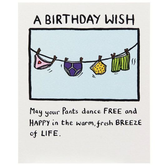 Edward Monkton A Birthday Wish Card   Temptation Gifts