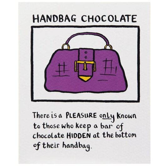 Handbag Chocolate Card