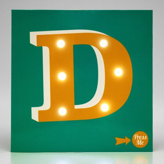 Showtime LED Greetings Card – D