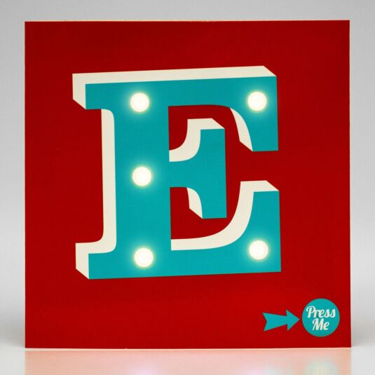 Showtime LED Greetings Card – E