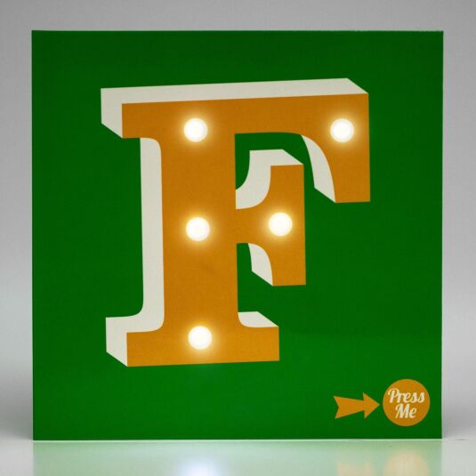Showtime LED Greetings Card – F