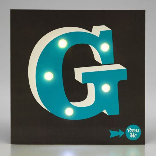 Showtime LED Greetings Card – G