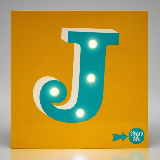 Showtime LED Greetings Card – J