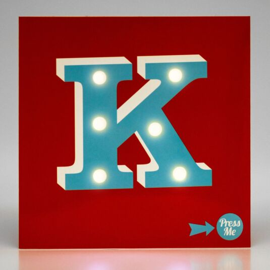 Showtime LED Greetings Card – K