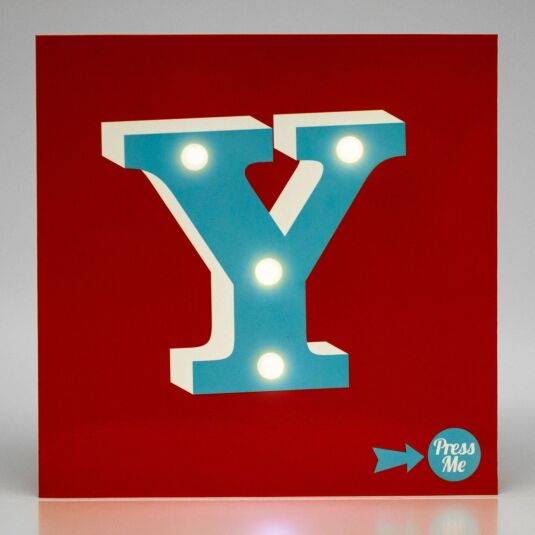 Showtime LED Greetings Card – Y