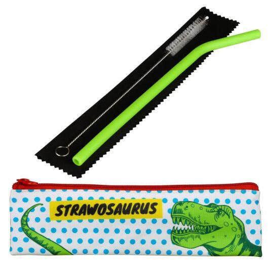 Strawosaurus Kids Silicone Straw Set