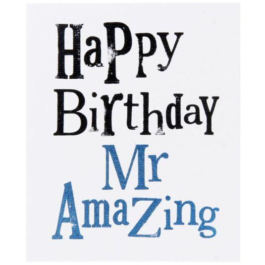 Happy Birthday Mr Amazing Card