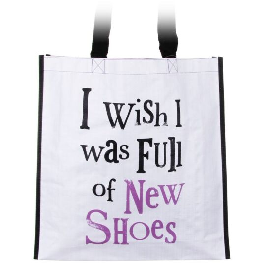 I Wish I Was Full Of New Shoes Shopping Bag