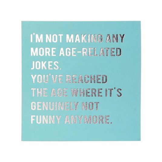 Cloud Nine 'Age Related Jokes' Card