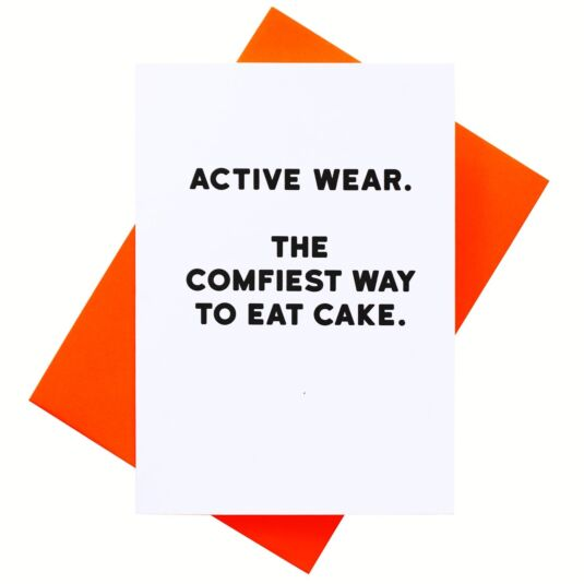 Holy Flaps Activewear Card