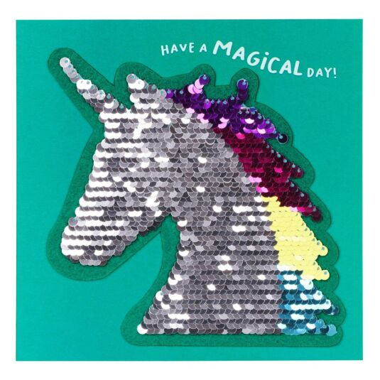 Shine Sequin Unicorn Card