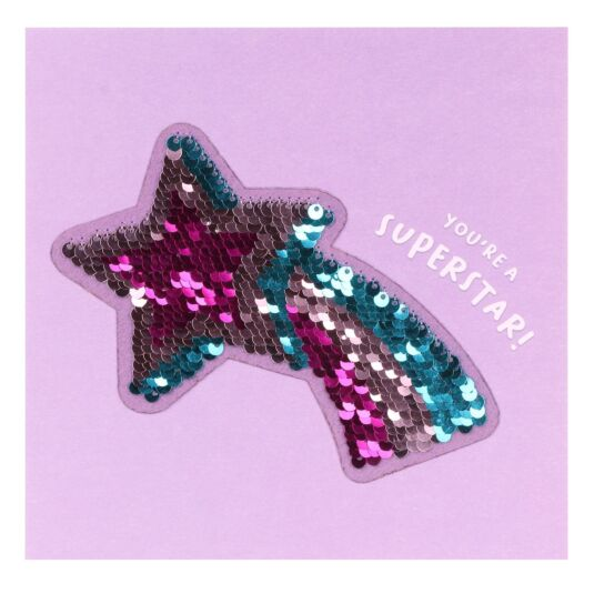 Shine Sequin Shooting Star Card