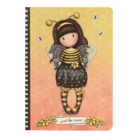 Bee-Loved A5 Stitched Notebook